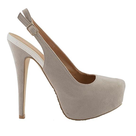 Damen Mädchen Dolcis Kunstwildleder Riemen Förmliche Schuhe - Damen, grau,  EU 38: Amazon.de: Schuhe & Handtaschen