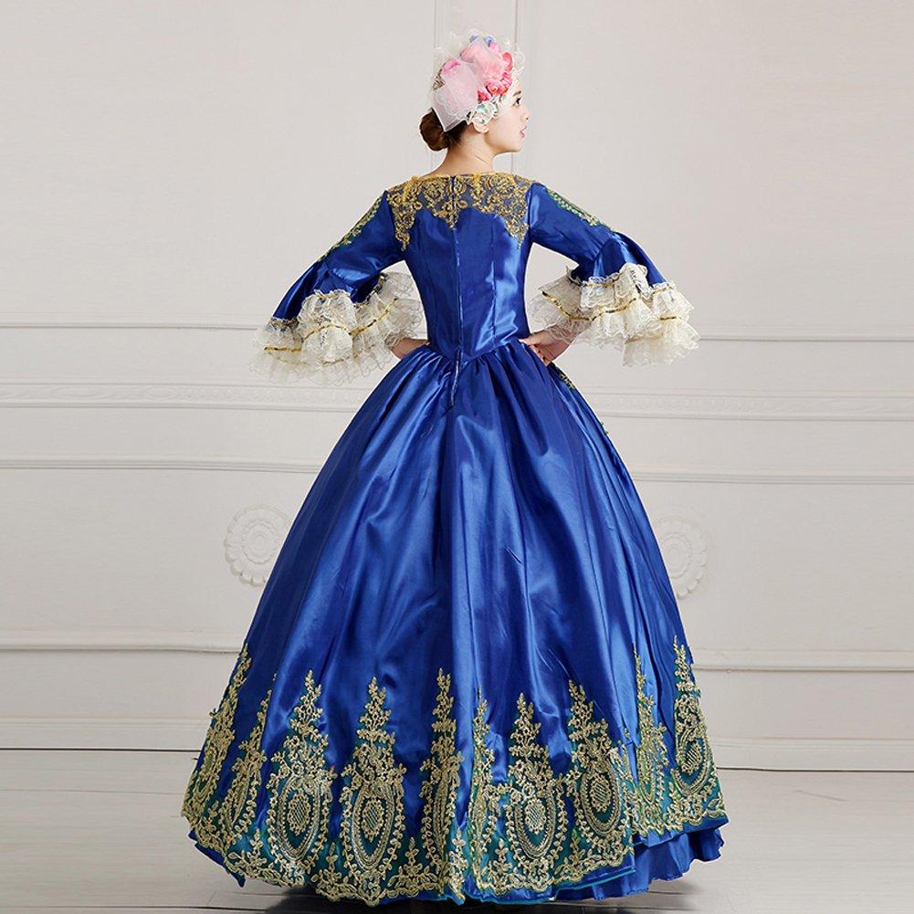 Amazon.com: ROLECOS Womens Royal Vintage Medieval Dresses Lady Satin ...