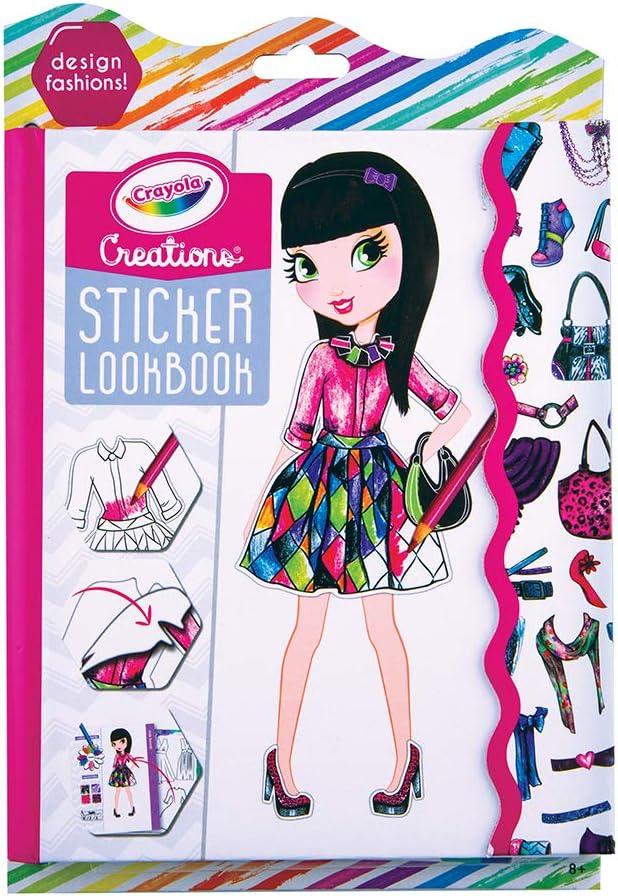 Amazon Com Crayola Creations Lookbook Sticker Toys Games