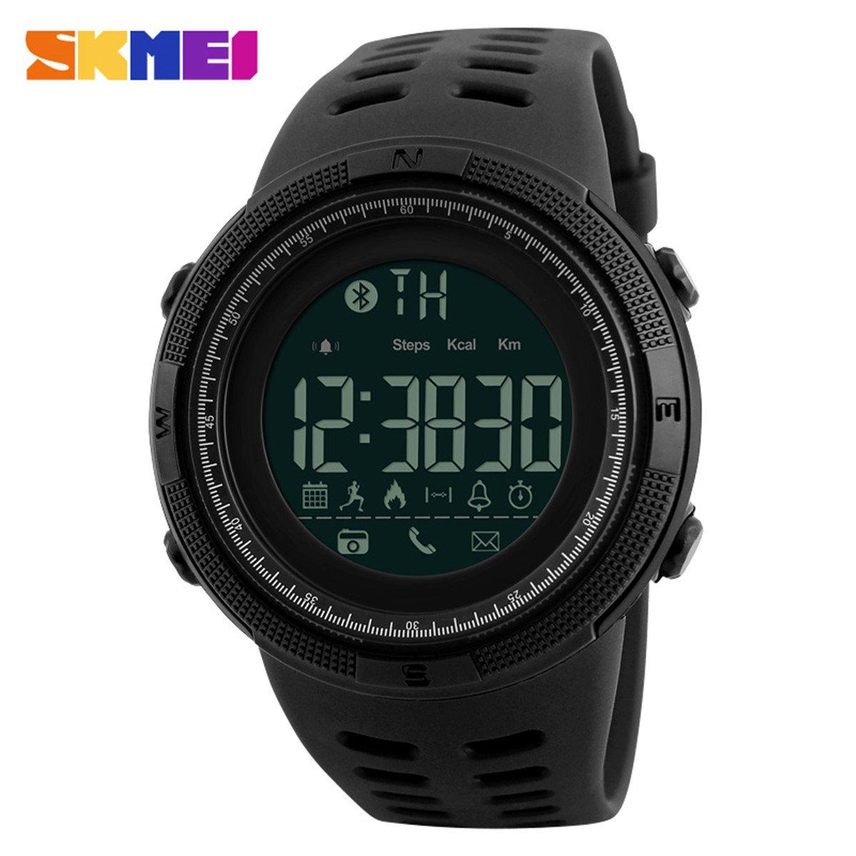 Amazon.com: SKMEI Brand Mens Smart Sport Watch New Bluetooth Calorie Pedometer Fashion Watches Men 50M Waterproof Digital Clock Wristwatch: Cell Phones & ...