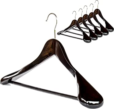 Amazon.com: Clutter Mate colgadores para trajes, de madera ...