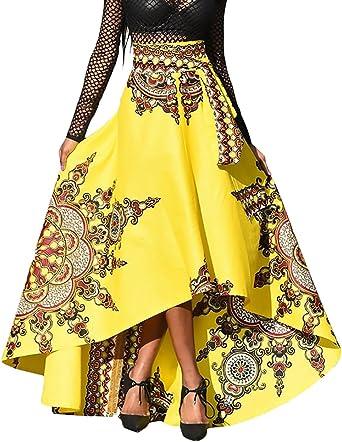 Mieuid Mujer Falda Elegantes Primavera Falda De Verano Cintura ...