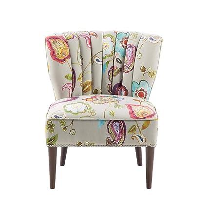 Amazon.com: Madison Park Korey Accent Chairs - Hardwood, Birch Wood ...