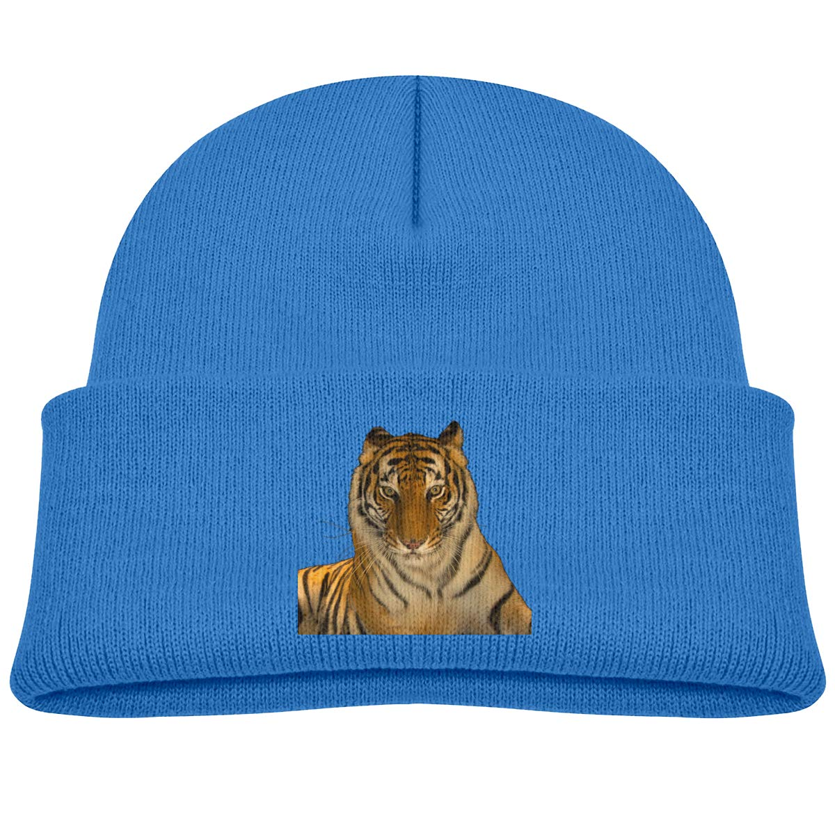 ACFUNEJRQ Bengal Tiger Childrens Autumn and Winter Warm Soft Cap Woolen Knitted Hat