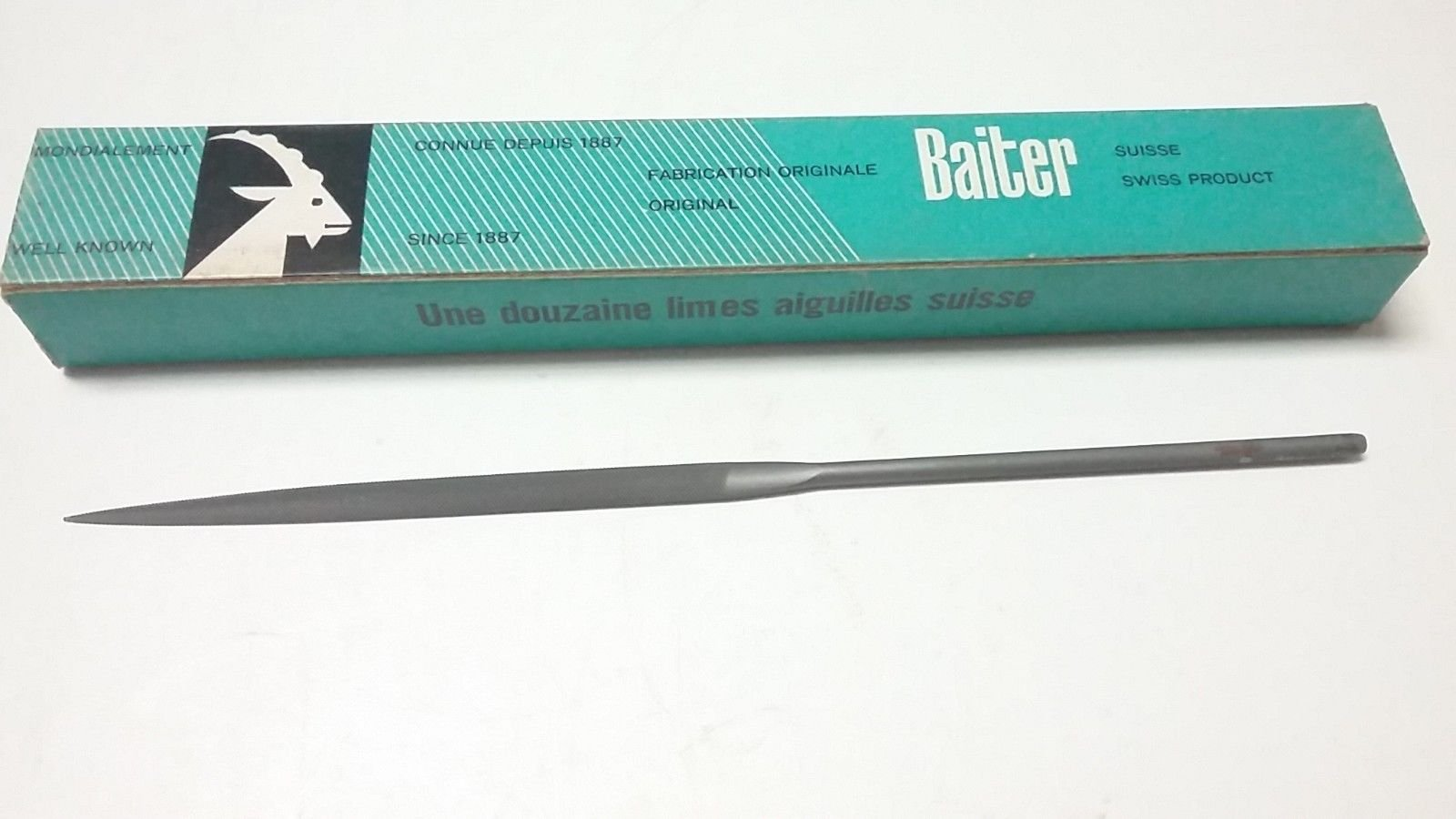 NEW - BAITER 8'' SWISS NEEDLE FILE - HALF ROUND - TAPERED - SINGLE END - 49