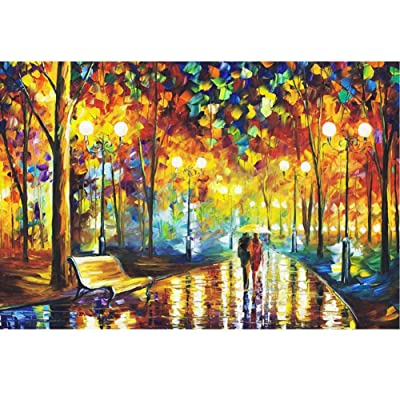 1000 Piece Jigsaw Puzzles for Adults - Rainy Night Stroll Jigsaw Puzzle - 30 X 20inches/75 X 50cm: Toys & Games
