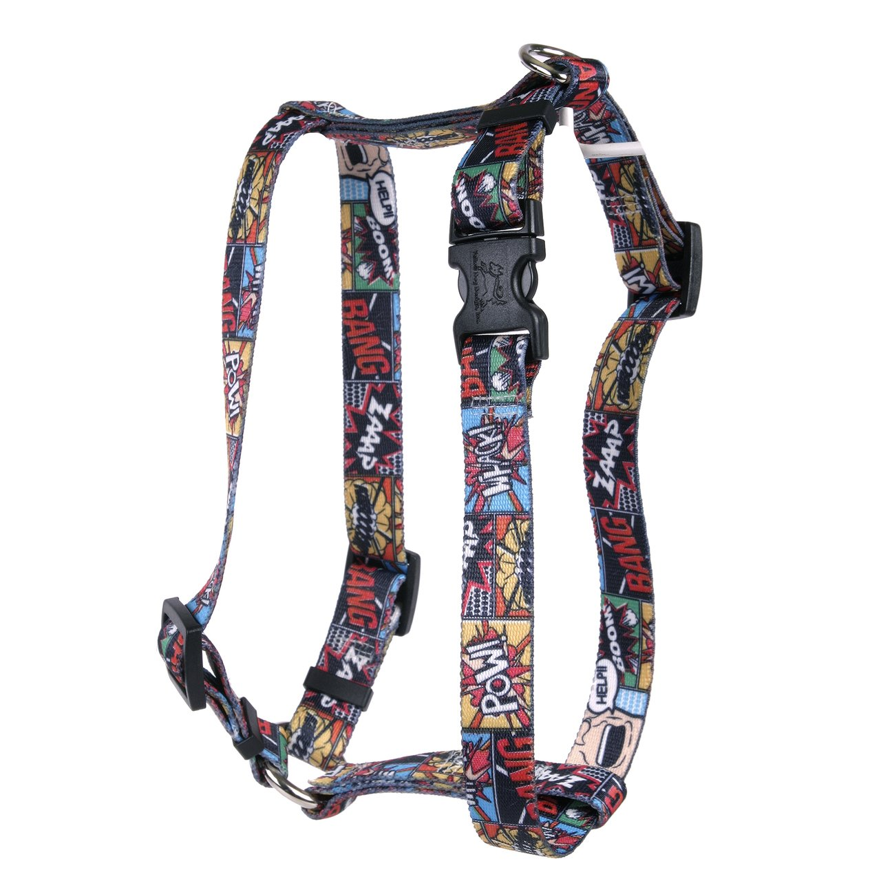Yellow Dog Design Vintage Comics Roman Style H Dog Harness-Large-1'' and fits Chest Circumference of 20 to 28''