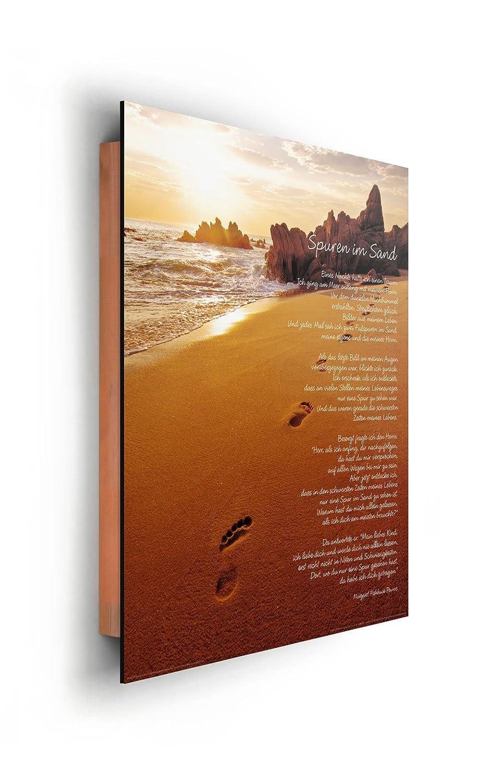 Amazon.de: REINDERS Spuren im Sand - Wandbild 40 x 50 cm