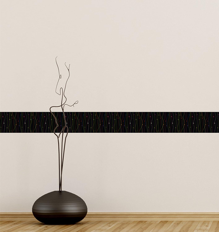 Couverture de tuile de papier peint de PVC de fronti/ère dauto-adh/ésif BR049