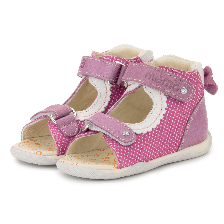 Memo Mini 1JE Baby Girl' First Walker Orthopedic Leather Anti-Slip Sandal, 19 (4 Toddler) by Memo (Image #8)