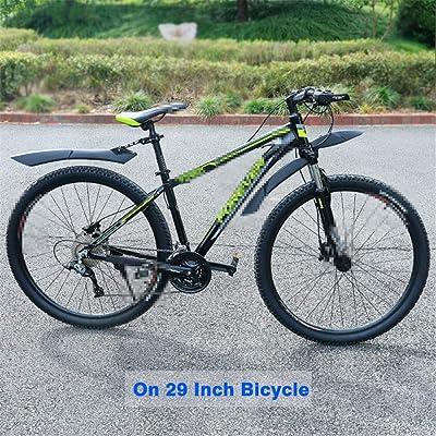 "24/""-29/"" Mountain Bike Mudguard MTB Bicycle Mud Guard Tire Fender Set Front Rear,"