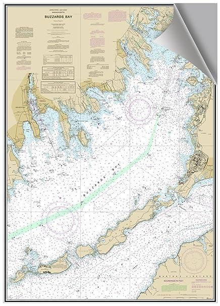 Amazon com: Buzzards Bay, MA Decorative Nautical Chart