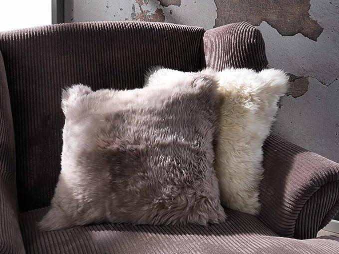 Kissenhülle Zierkissenbezug Kissenbezug Polyester Schaffell Creme 50x50 cm TIVI