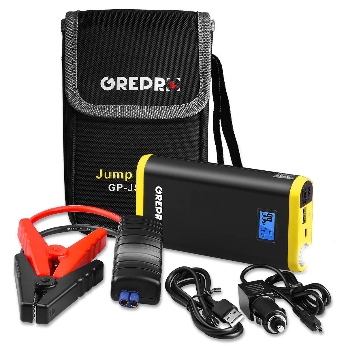 ignifugo Shell DBJ Potente Batteria di Emergenza Jump Starter 800/A Peak Booster Batteria Caricatore con Smart Intelligent Jump Cavo Doppia Uscita USB di Ricarica Rapida