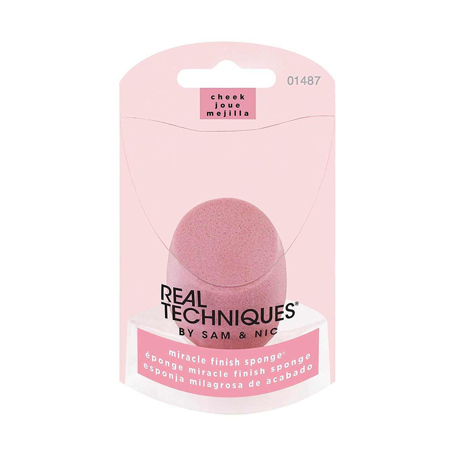 Real Techniques Cruelty Free Miracle Finish Sponge (Pack of 1) for a Natural Look, Ideal for Cream, Pressed Powder, & Liquid Blush, Latex Free (Packaging May Vary)