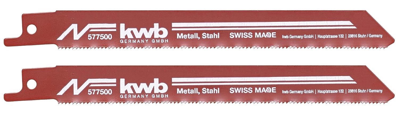 Weichstahl KWB 5775-00 S/äbels/ägebl/ätter Stahl Bleche Metallbearbeitung Kunststoff Aluminium Profile
