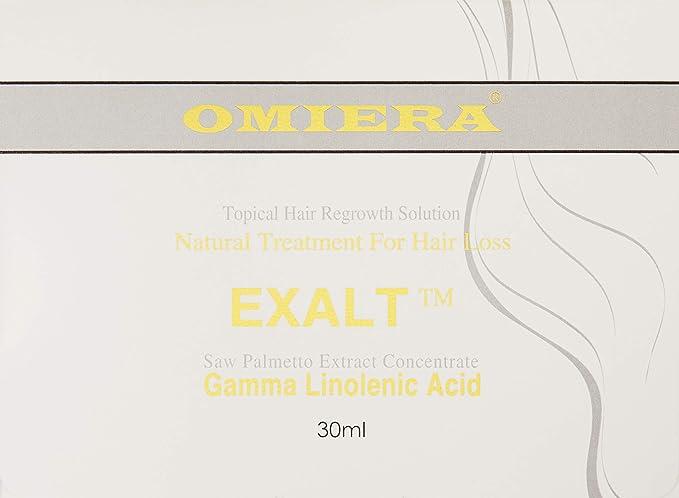 Omiera Exalt crecimiento del cabello para hombres, Cabello Natural de crecimiento, prevenir pérdida de cabello, máxima fuerza 30 ml