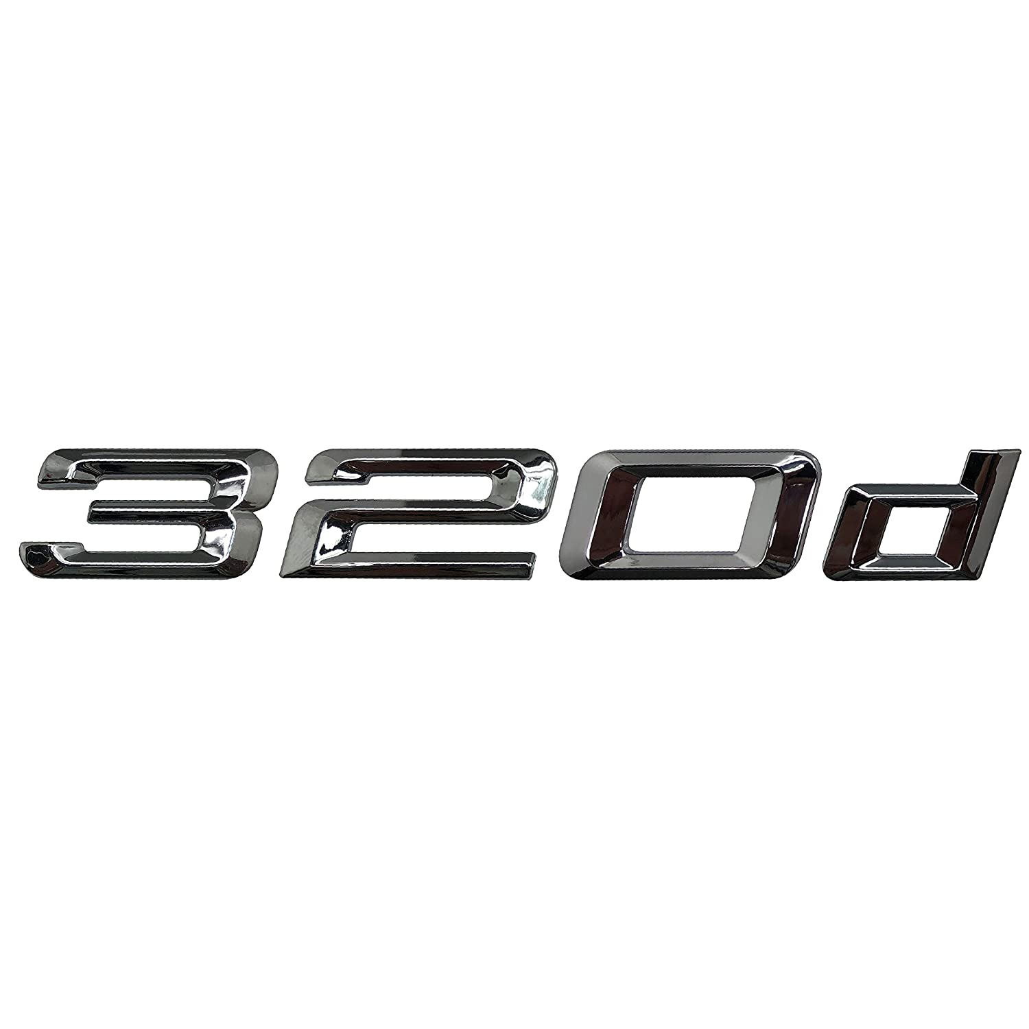 F31 G20 Models E93 F30 E46 Silver Cromo 320d Lettering Trasero Boot Lid Trunk Badge Emblema For 3 Series E36 E90 E91 F34 E92