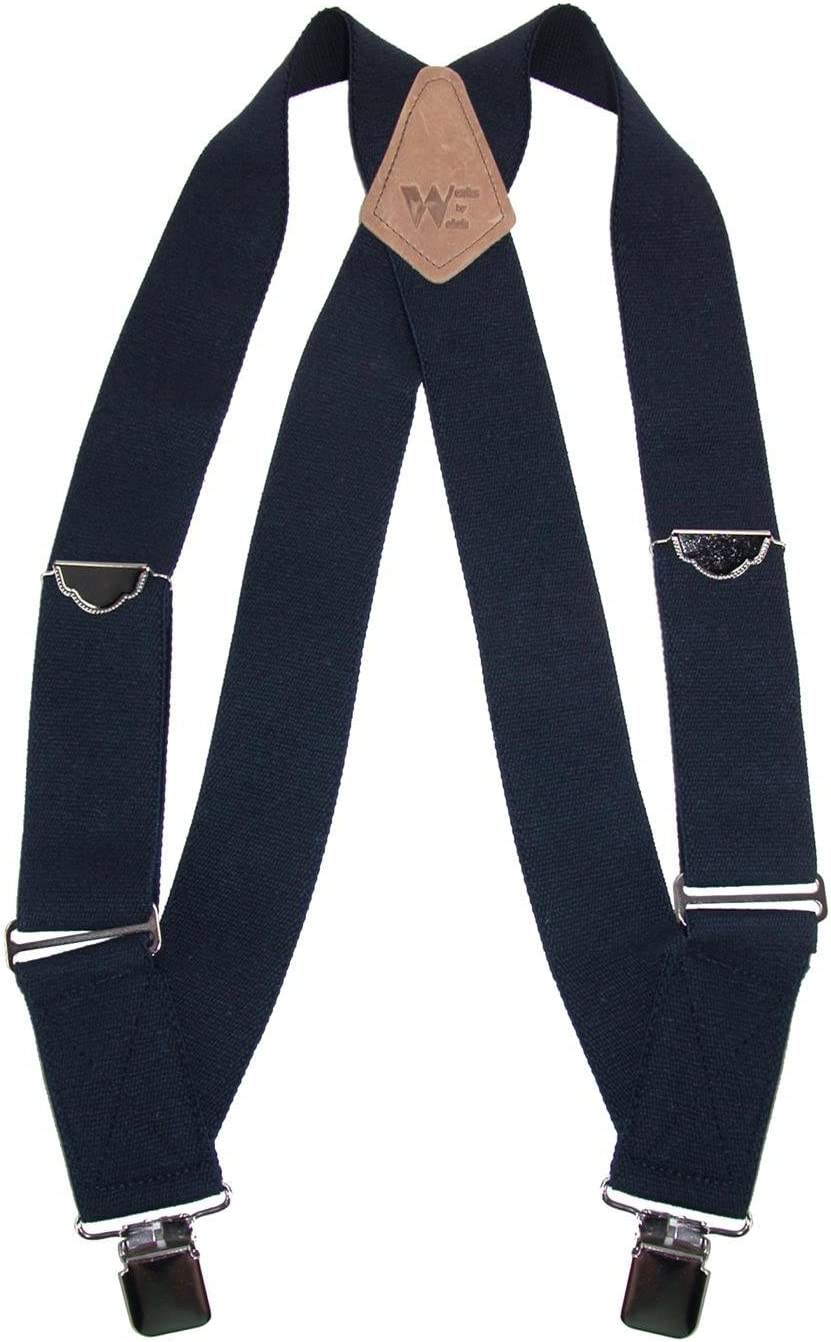Navy Welch Mens Elastic Clip-End Trucker Suspenders