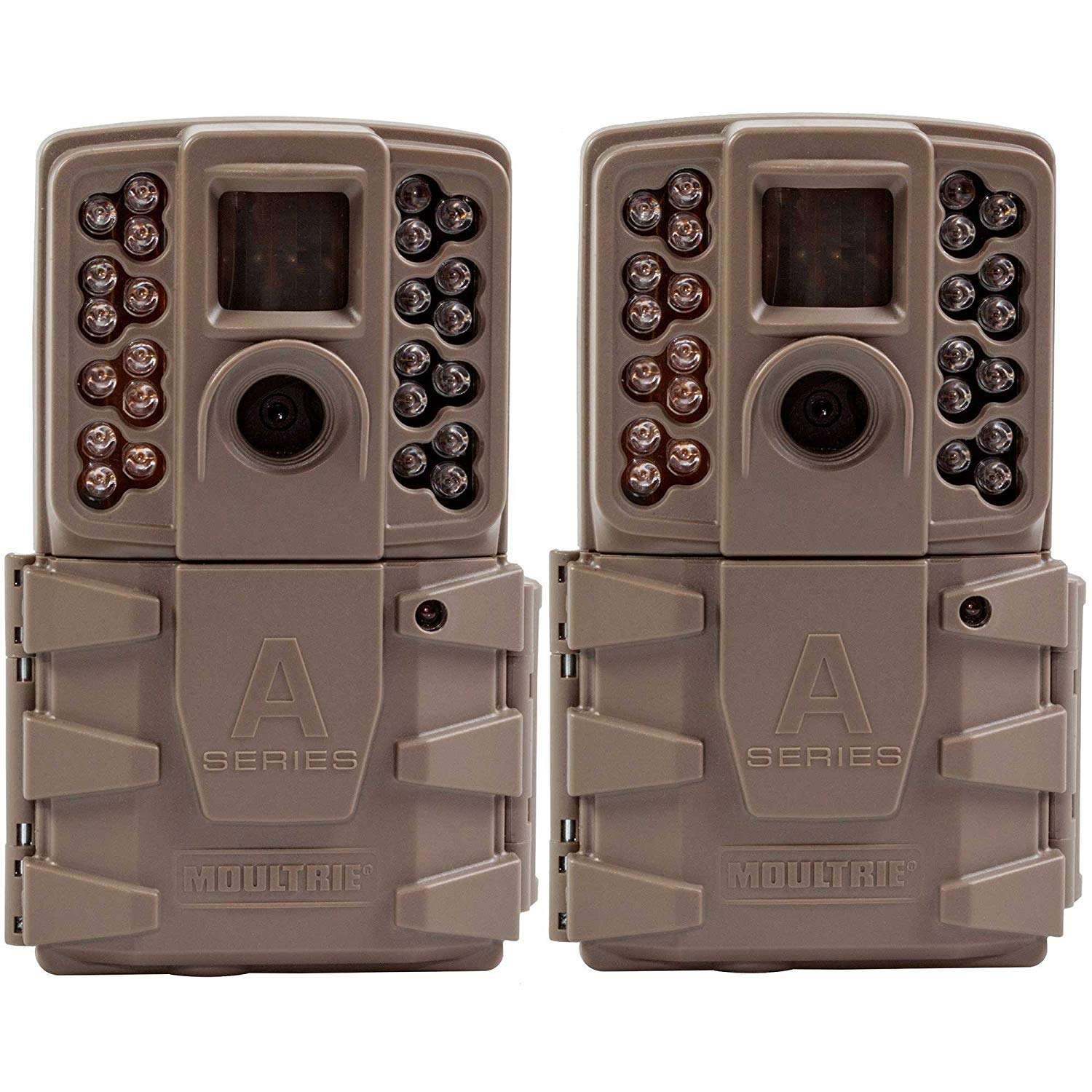 Moultrie A-30 12MP 60' HD Video Low Glow Infrared Game Trail Camera (2 Pack) by Moultrie