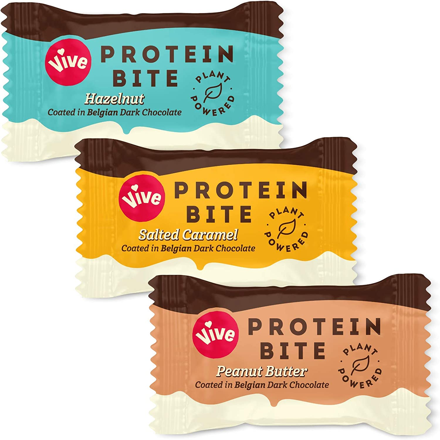 Vive Protein Bites Dark Chocolate Coated Mixed Box – Vegan, Gluten Free – 21 x 20g