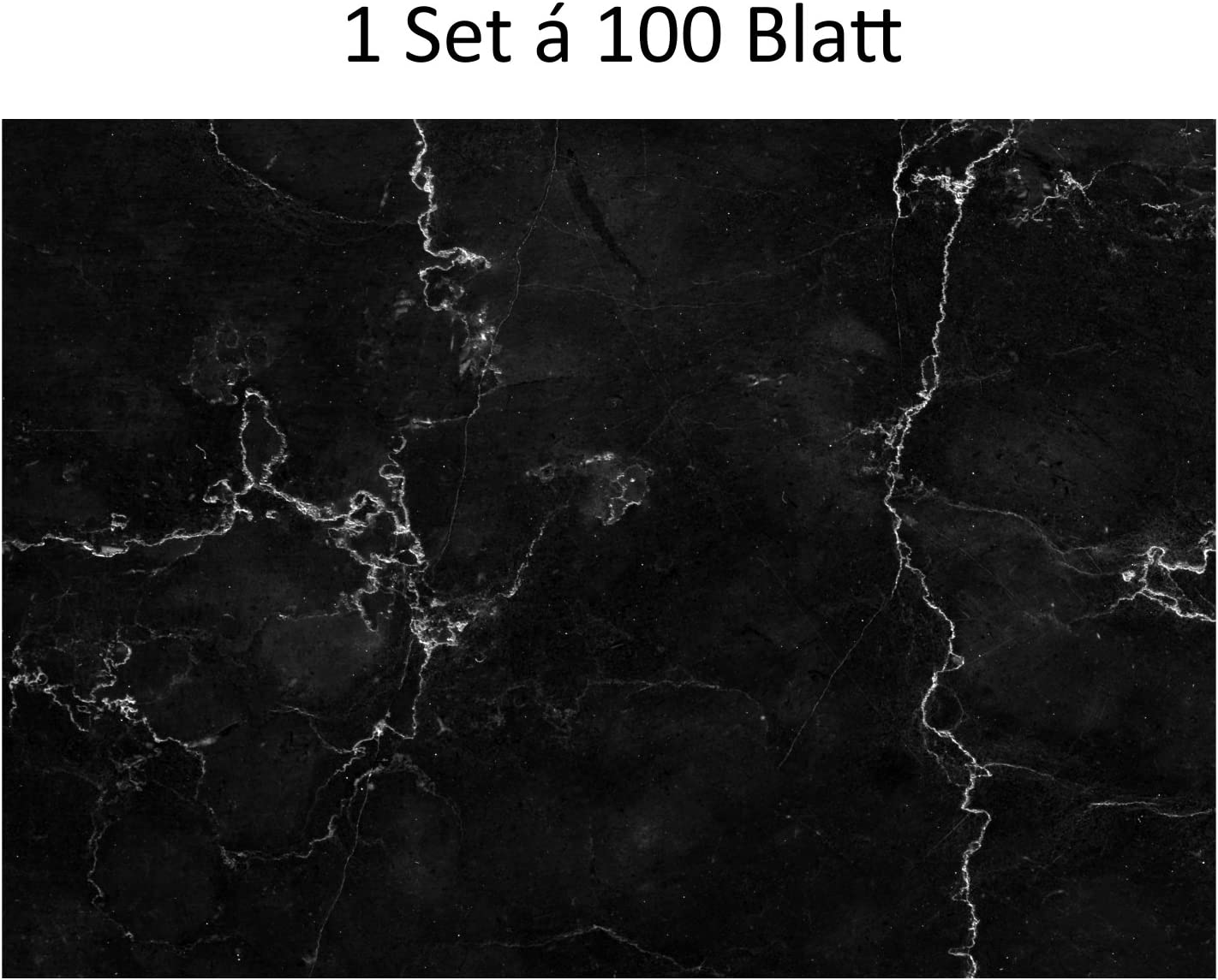 #detailverliebt 100/Tovagliette di carta con effetto marmo I DV 319/I bianco//grigio