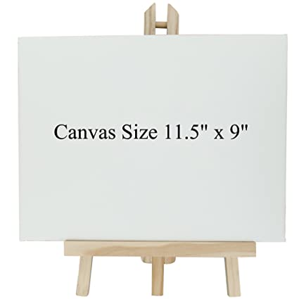 amazon com nitacy small blank art canvas with portable tabletop