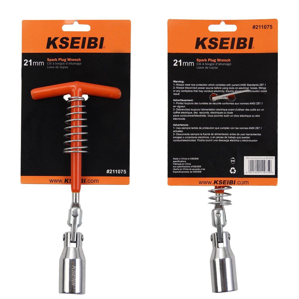 KSEIBI T-Handle Universal Joint Spark Plug Wrench Socket Remover Installer (21mm) - - Amazon.com
