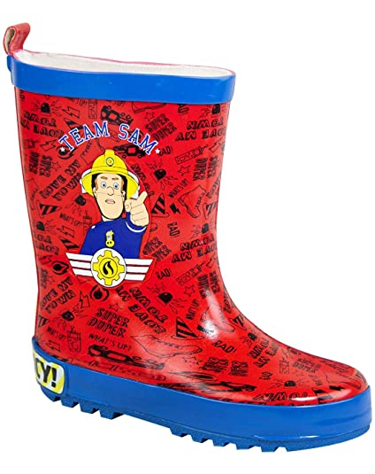 f724b5345 Image Unavailable. Image not available for. Color  Fireman Sam Boy s Wellies  ...