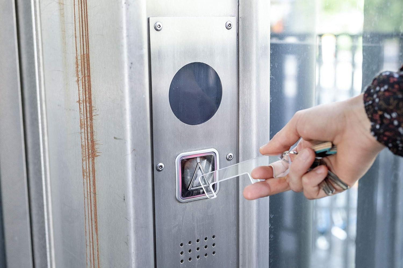SafetyKey aus Acryl T/üren ohne Anfassen Hygienehaken kontaktloser T/ür/öffner hygienisch Kn/öpfe bedienen hygienischer Haken