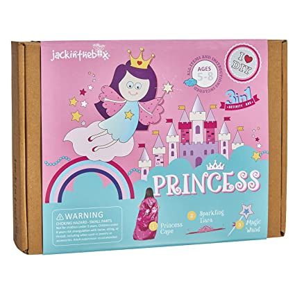 Amazon Com Jackinthebox Princess Themed Art And Craft Kit For Girls