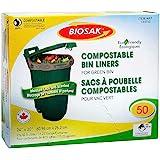 Biosak Compostable Green Bin Liners, 60.96 cm × 76.2 cm (24 in × 30 in), Pack of 50