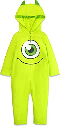 Amazon Com Disney Pixar Monsters Inc Mike Wazowski Boys Costume Coverall Clothing