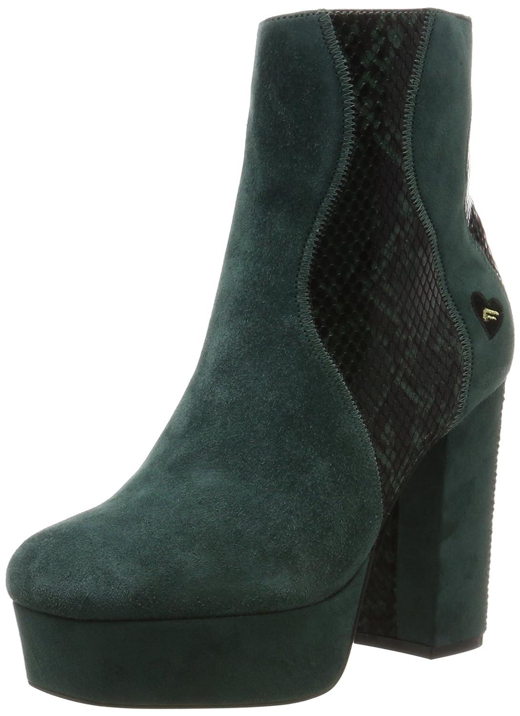 Fornarina Mina, Zapatos con Plataforma para Mujer 38 EU|Verde (Green 036)