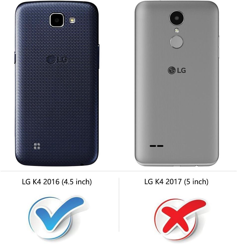 COODIO Funda LG K4 2016 con Tapa, Funda Movil LG K4 2016, Funda ...