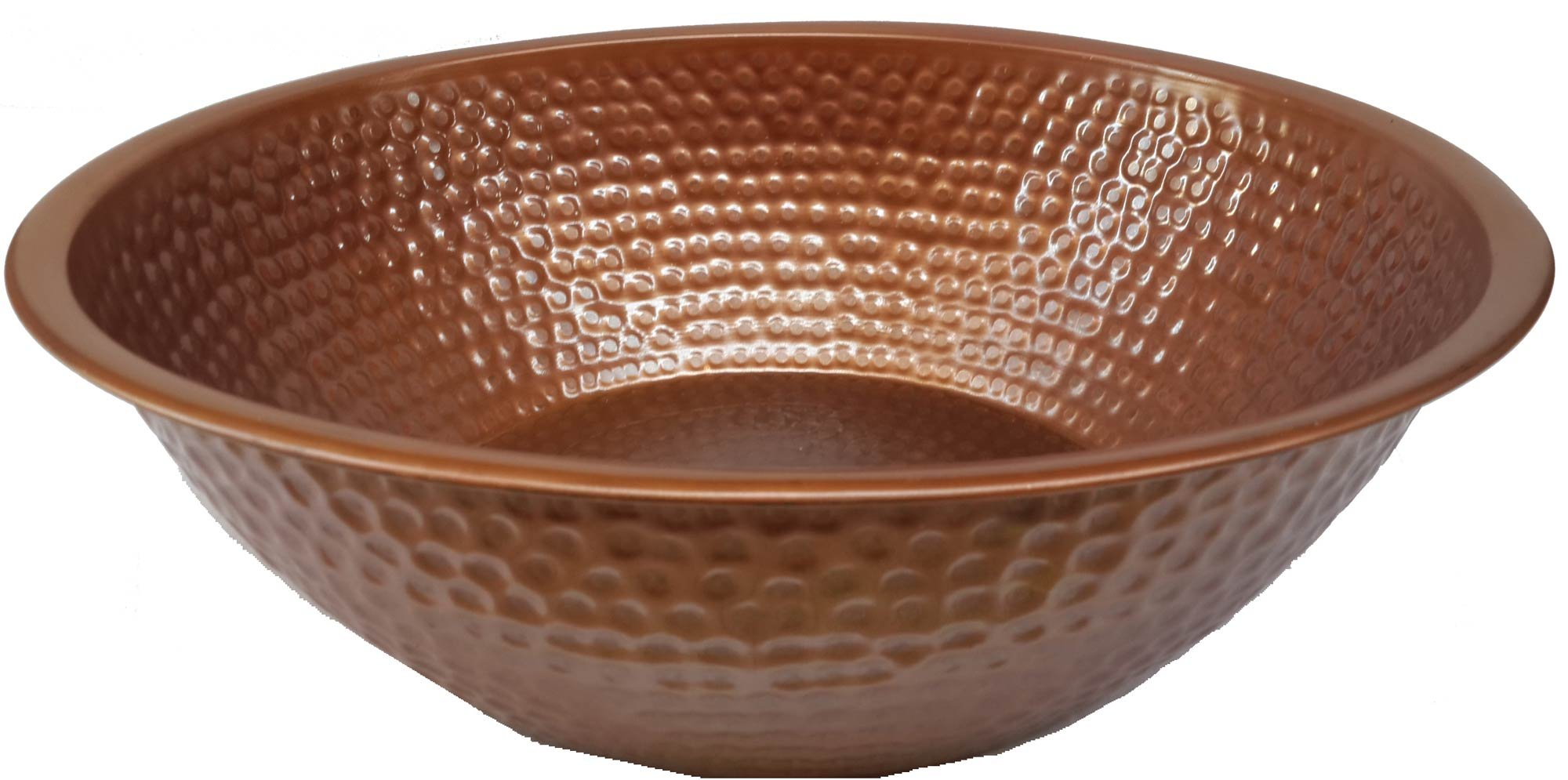 Egypt gift shops Handmade Oil Rubbed Wedding Bride Pedicure Spa Foot Bath Soak Massage Therapy Fatigue Relief Clinic Resort Pure Natural Copper Bowl by Egypt gift shops (Image #1)