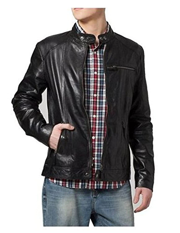 Laverapelle Men's Lamb skin Real Leather Jacket Black - 1510130