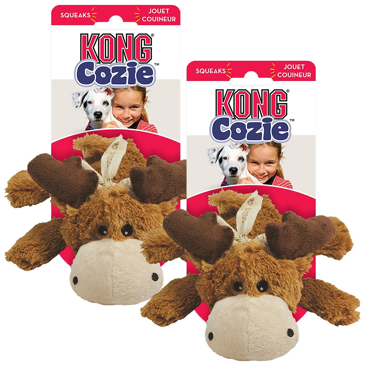 KONG Cozy Marvin Moose, X-Large ( 2 Pack)
