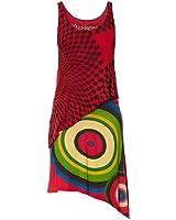 Desigual Yamas - Robe - Asymétrique - Imprimé - Sans manche - Femme