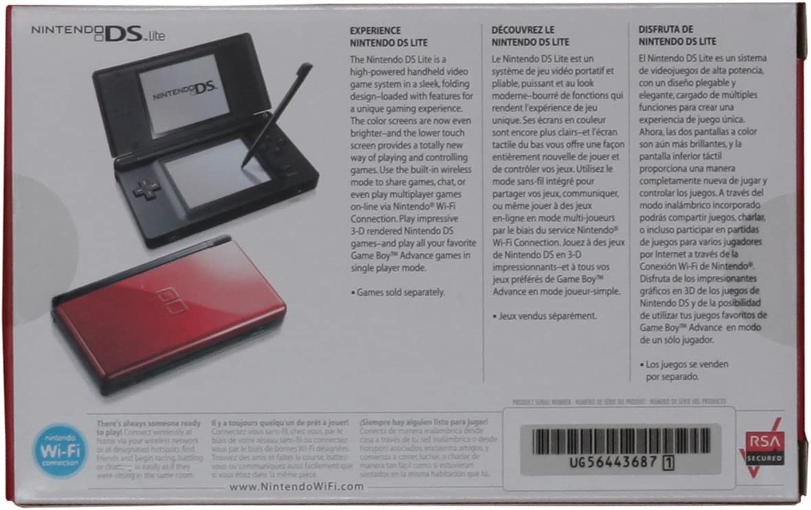 Amazon.com: Nintendo DS Lite Crimson / Black: Artist Not ...