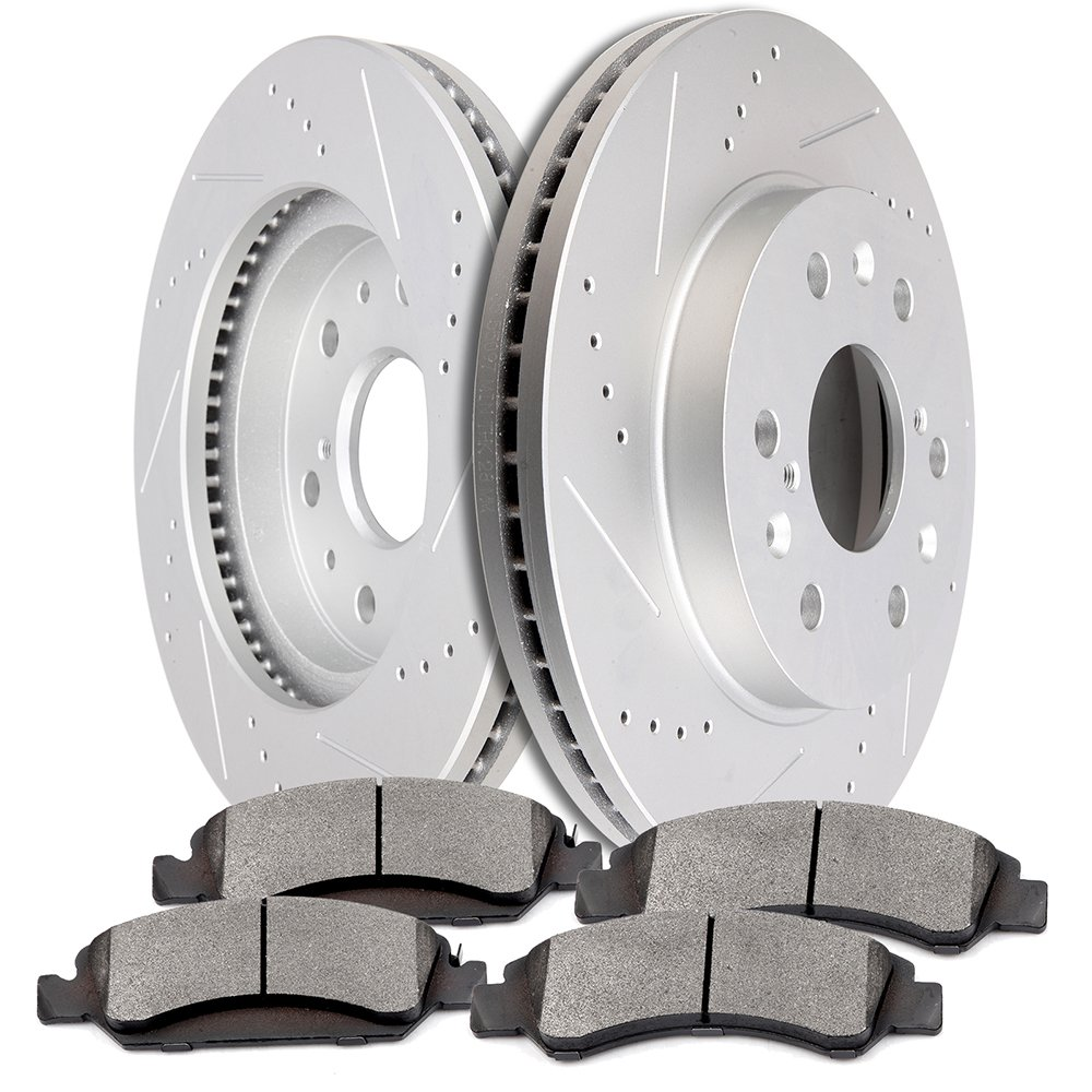 OCPTY Brakes and Rotors Set with 2 Front Brake Disc Rotots and 4 Ceramic Pads fit for Cadillac Escalade,Chevrolet Avalanche,Chevrolet Express 1500,Chevrolet Suburban 1500