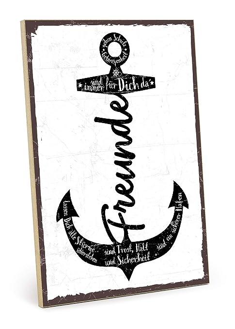 Type plástico Cartel de Madera, Diseño con Texto - Amigos ...