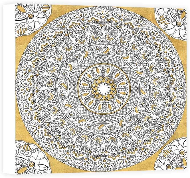 Impresión sobre Lienzo Wall Art Brissonnet Daphne Color My World Mandala I Gold: Amazon.es: Hogar