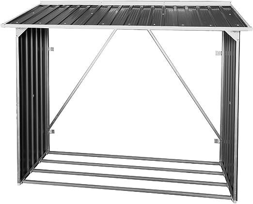 Duramax Leñero Exterior metálico Medidas 73, 5x182x160 cm, Gris Antracita: Amazon.es: Jardín