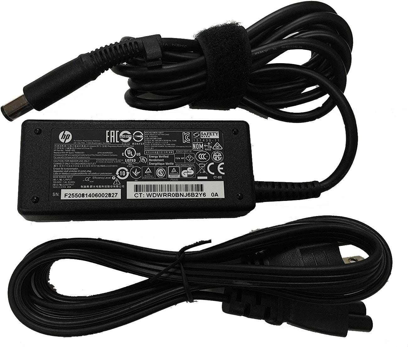 New Genuine HP EliteBook Folio Pavilion ProBook 19.5V - 2.31A 45W AC Adapter 744893-001