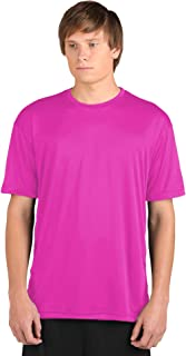 product image for WSI Microtech Loose Short Sleeve Shirt, Hot Pink, Large