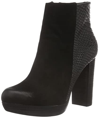e2677078a7f983 SPM Damen Nano Ankle Boot Kurzschaft Stiefel Schwarz Black