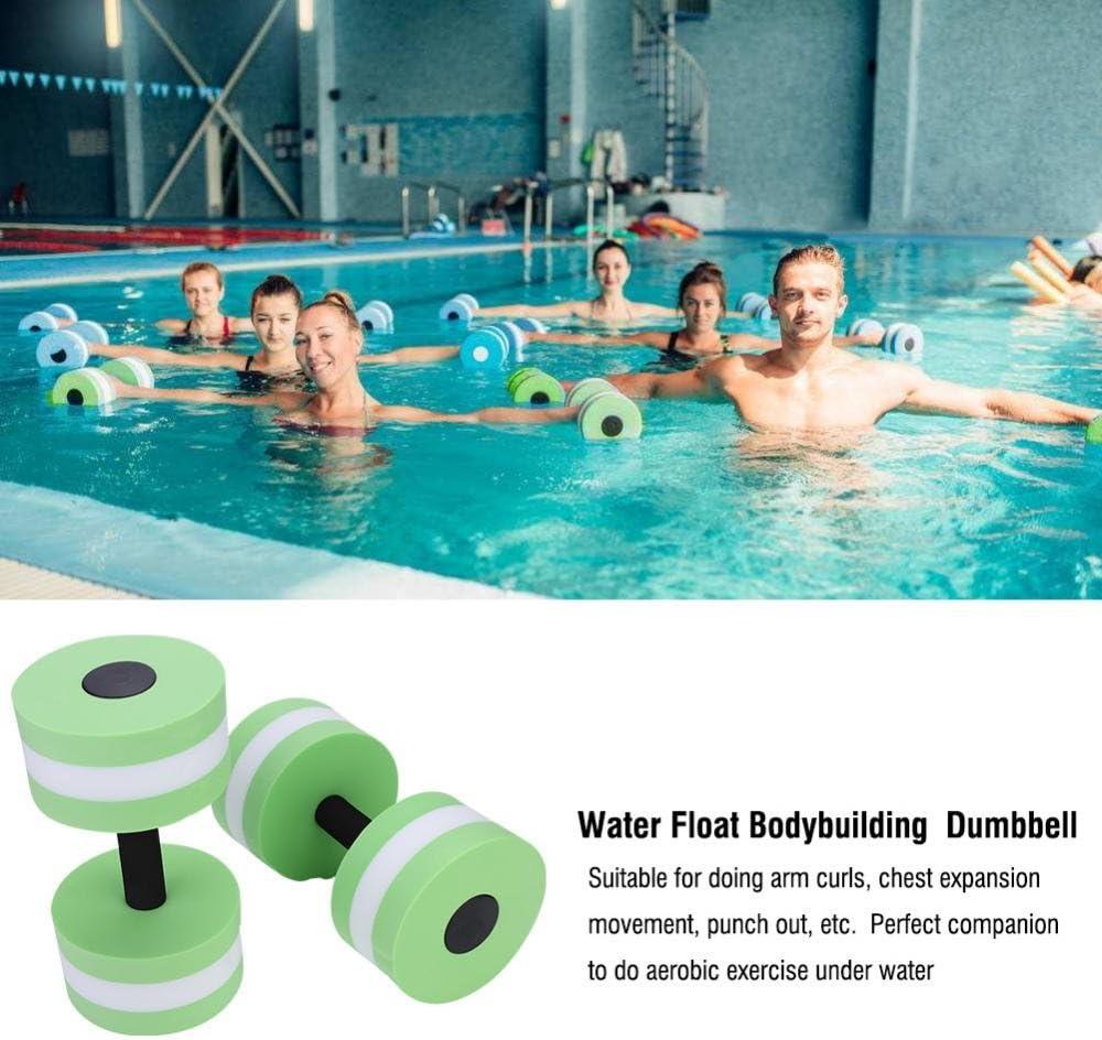WINOMO Aquatic Exercise Foam Dumbbells 2PCS Foam Dumbbells Fitness Barbells Exercise Hand Bars for Water Aerobics Fitness and Pool Exercises