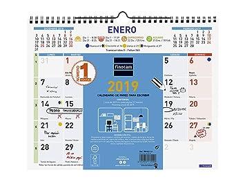 Finocam 781420019 - Calendario de pared 2019: Amazon.es: Oficina y papelería