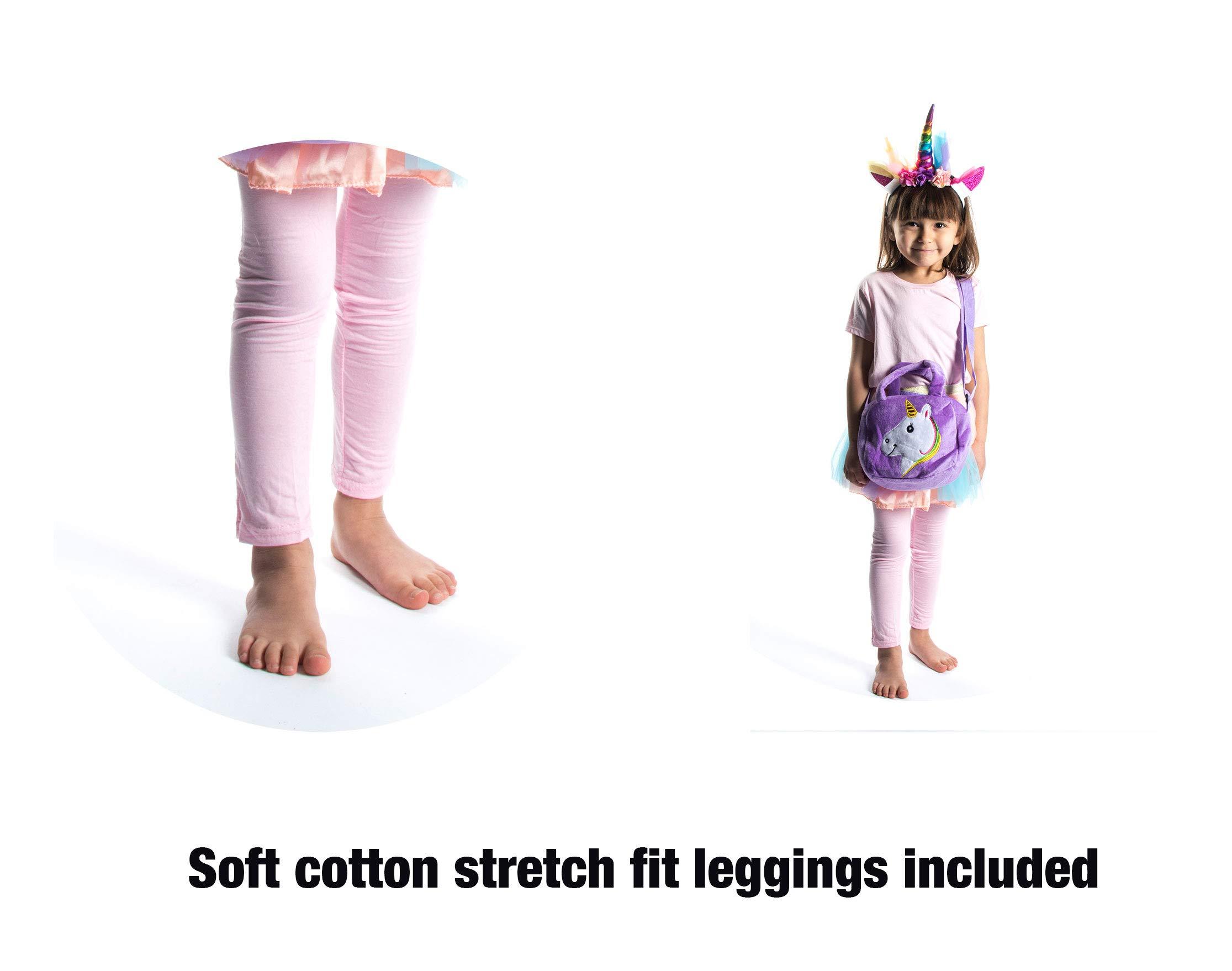 Little Jupiter Premium Girls Rainbow Unicorn Tutu Set 4PC Layered Dress for Age 2-8 Years Costume Unicorn Party 9